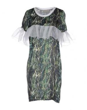 Короткое платье HEIMSTONE. Цвет: темно-зеленый