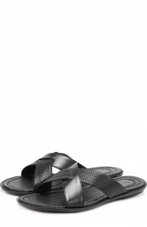 Кожаные сабо на резиновой подошве Doucals Doucal's. Цвет: черный