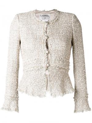 Bouclé jacket Chanel Vintage. Цвет: телесный