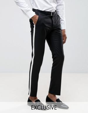 Noak Зауженные брюки с полосой. Цвет: черный