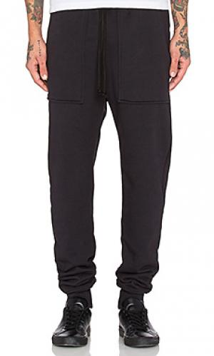 Свободные брюки french terry Wil Fry. Цвет: черный
