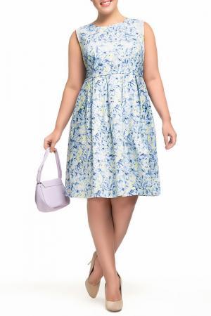 Платье Олмис. Цвет: голубой