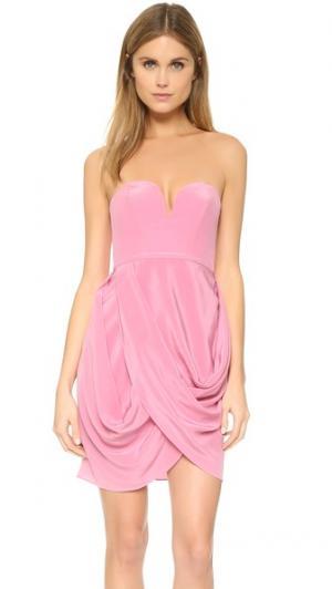 Драпированное платье Zimmermann. Цвет: розовый
