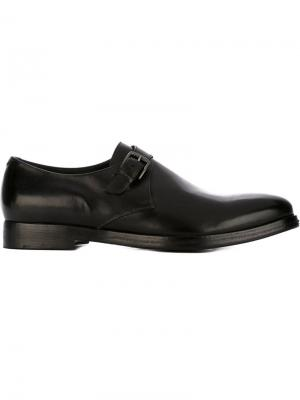 Классические туфли монки Alberto Fasciani. Цвет: чёрный
