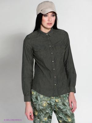 Рубашка MAVI. Цвет: хаки