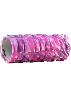 Ролик массажный STARFIT FA-503 140*330мм, фиолетовый камуфляж. Цвет: фиолетовый