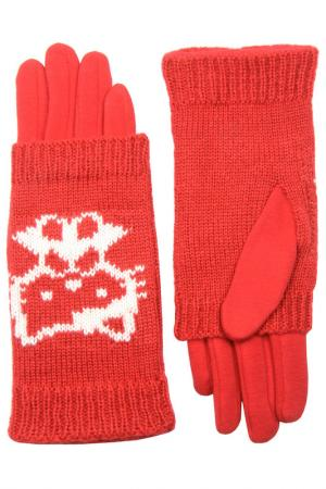 Перчатки Stella. Цвет: красный