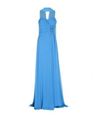 Длинное платье MUSANI COUTURE. Цвет: лазурный