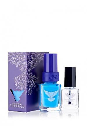 Набор лаков для ногтей Christina Fitzgerald. Цвет: голубой
