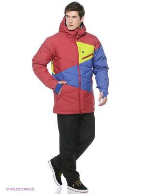 Куртка STAGE 15 DC Shoes. Цвет: красный, желтый, синий