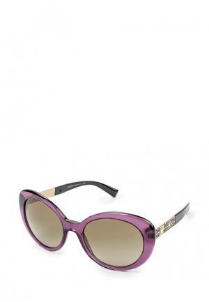 Очки солнцезащитные Versace. Цвет: фиолетовый