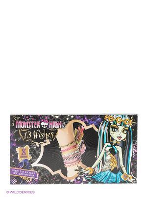 Набор из пластиковых подвесок для браслетов Monster High Centrum. Цвет: фиолетовый