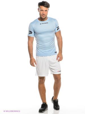 Футболка тренировочная Patrick. Цвет: голубой, серебристый