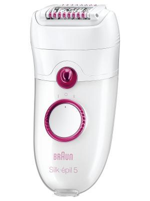 Эпилятор 5-329 + прибор для отшелушивания кожи Braun. Цвет: белый
