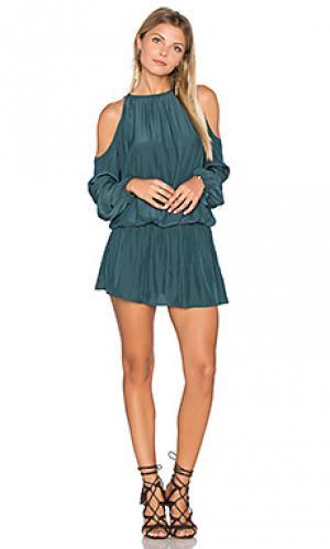 Платье с прорезями на плечах lauren RAMY BROOK. Цвет: темно-зеленый