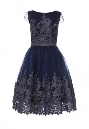 Платье Chi London. Цвет: синий