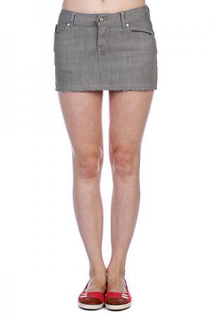 Юбка женская  Harrison Mini Skirt Slate Ezekiel. Цвет: серый