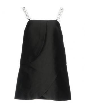 Короткое платье ISA ARFEN. Цвет: черный