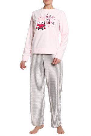 Пижама с брюками Relax Mode. Цвет: полосатый