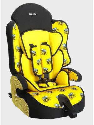 Детское автомобильное кресло ПРАЙМ Isofix коллекция ART SIGER. Цвет: желтый