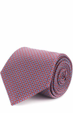 Шелковый галстук с узором Canali. Цвет: бордовый
