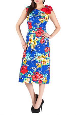 Платье Mannon. Цвет: красно-синий