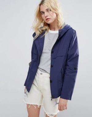 Parka London Куртка с высоким воротником Anja. Цвет: синий