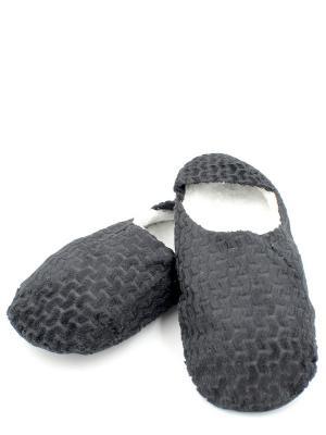 Носки-тапочки HOBBY LINE. Цвет: черный