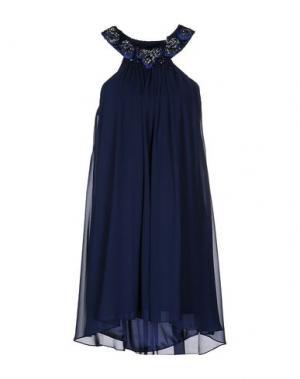 Короткое платье LEXUS. Цвет: темно-синий