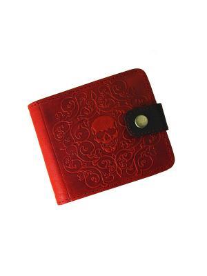 Портмоне с RFID защитой - против краж Кажан. Цвет: красный