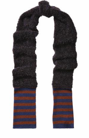 Вязаный шарф с металлизированной отделкой By Malene Birger. Цвет: синий
