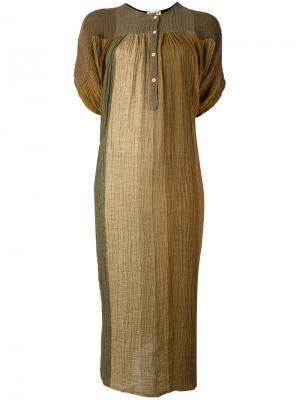 Платье-туника с эффектом градиента Masscob. Цвет: телесный