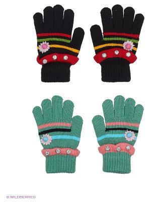 Перчатки, 2 пары FOMAS. Цвет: черный, серо-голубой