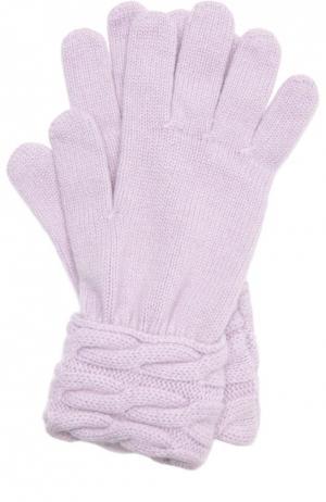 Вязаные перчатки из кашемира Kashja` Cashmere. Цвет: фиолетовый
