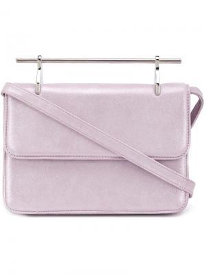 Сумка на плечо La Fleur Du Mal M2malletier. Цвет: розовый и фиолетовый
