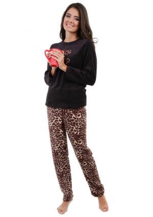 Комплект: джемпер + брюки SMART LOUNGEWEAR. Цвет: бежевый, розовый, черный (черный с рисунком)