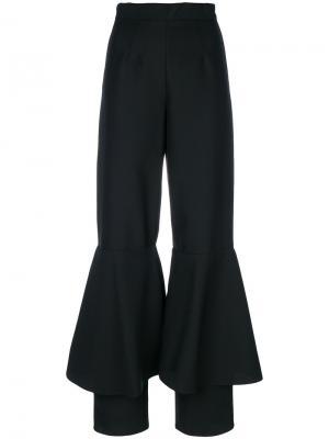 Расклешенные брюки Edeline Lee. Цвет: чёрный