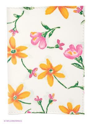 Обложка для паспорта Лютики Mitya Veselkov. Цвет: белый, розовый, желтый