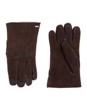 Перчатки DOLCE & GABBANA. Цвет: темно-коричневый