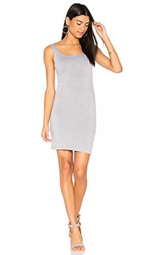 Миди платье с зауженным подолом BLQ BASIQ. Цвет: серый