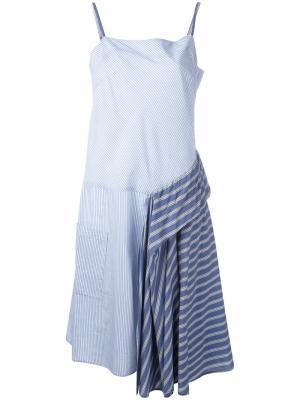 Полосатое платье Zucca. Цвет: синий