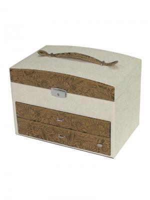 Шкатулка для украшений JARDIN D'ETE. Цвет: золотистый, белый