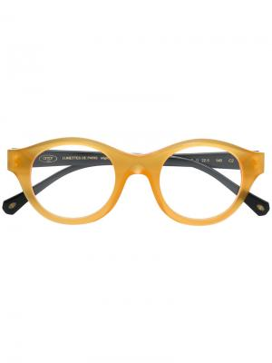 Classic round glasses Sol Amor 1946. Цвет: жёлтый и оранжевый