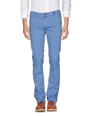 Повседневные брюки GIO ZUBON. Цвет: небесно-голубой