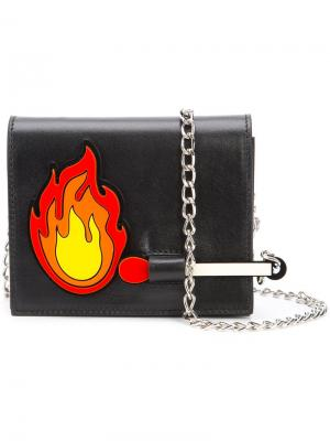 Fire patch chain bag Yazbukey. Цвет: чёрный