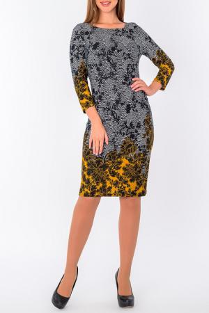 Платье S&A style. Цвет: горчично-черный