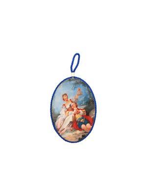 Подставка под горячее Влюбленная парочка Elan Gallery. Цвет: бежевый, красный, синий