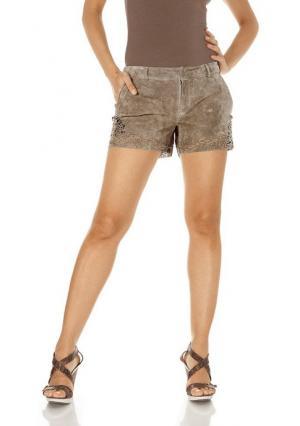 Кожаные шорты Rick Cardona. Цвет: серо-коричневый