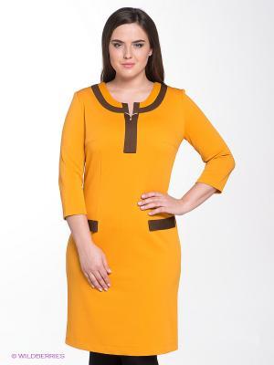 Платье Klimini. Цвет: оранжевый