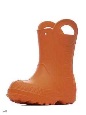 Сапожки детские Каури. Цвет: оранжевый